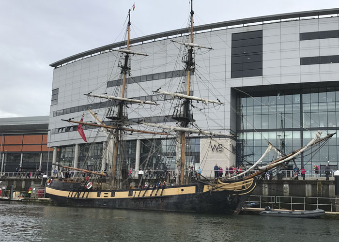 Ship at the Belfast Maritime Event