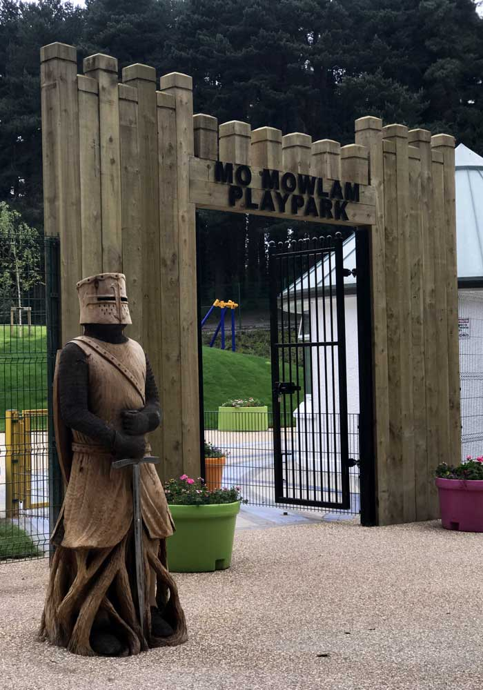 Stormont Estate Mo Mowlam Play Park Castle Entrance