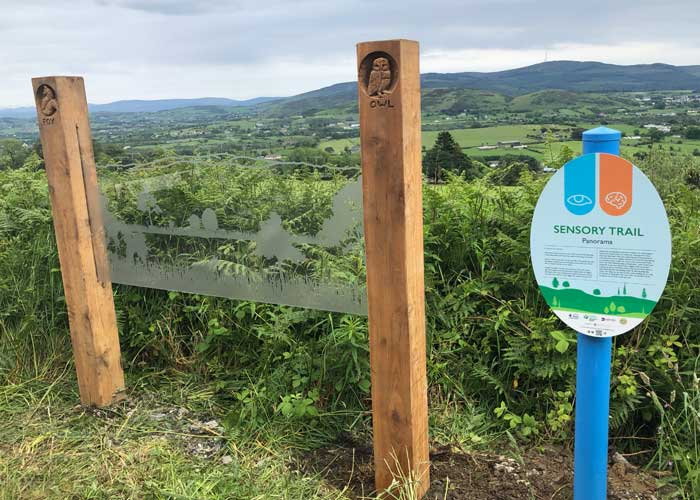 Slieve Gullion sensory trail view point