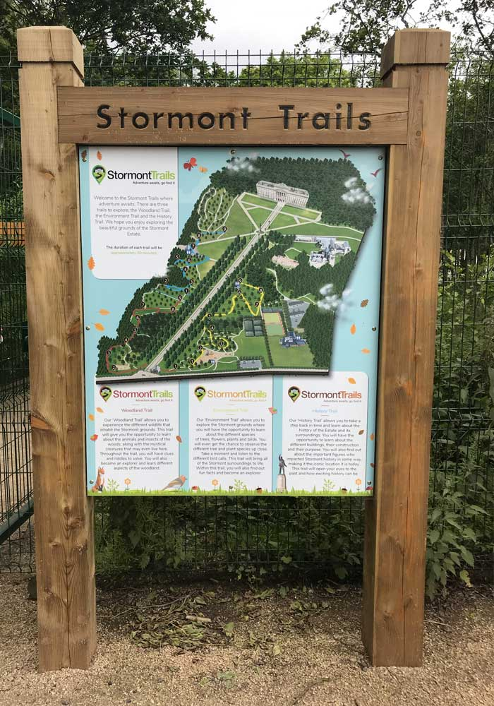 Stormont Trail sign