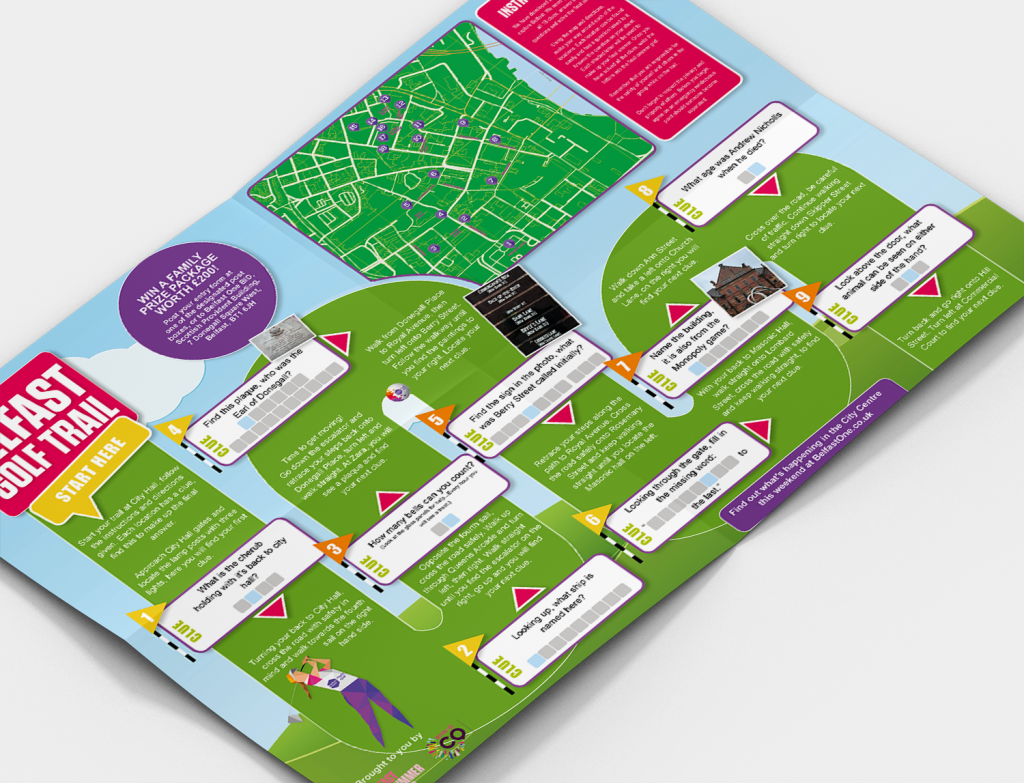 Gamification of Belfast City Centre A3 Booklet