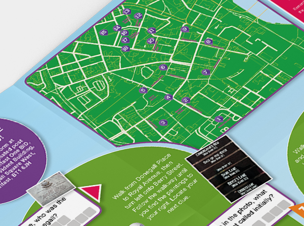 gamification of belfast city centre map