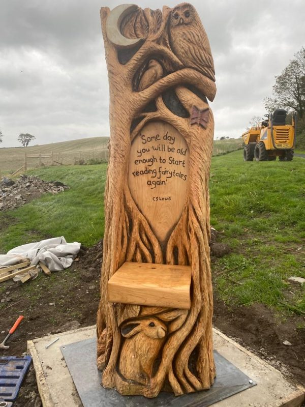 National Trust throne hand carved sculpture