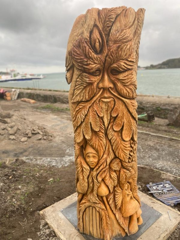 Bluebell Wood Totem Carving