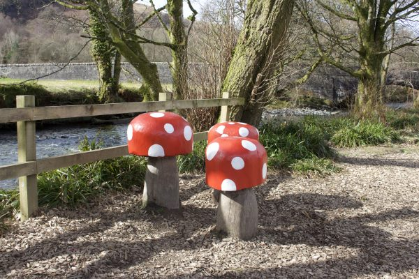 Uncle Henry's Farm Fairy Trail Painted Mushrooms