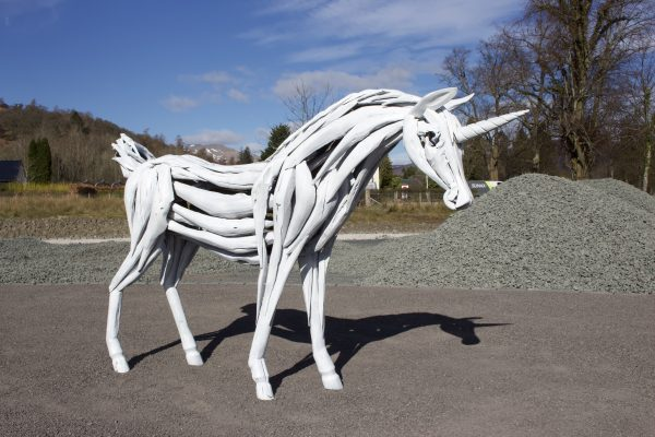 Loch Lomond Faerie Trail Unicorn Structure