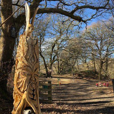 Loch Lomond Faerie Trail, Totem Carving