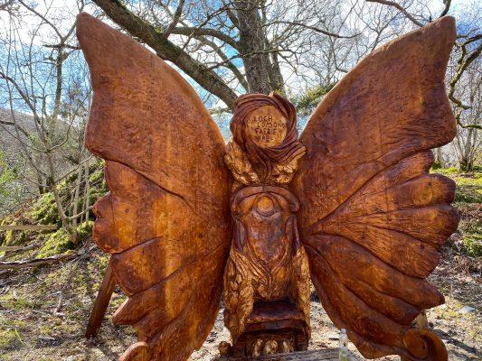 Loch Lomond butterfly wing throne