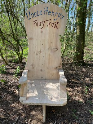 Uncle Henry's Farm Fairy Trail Carved Throne