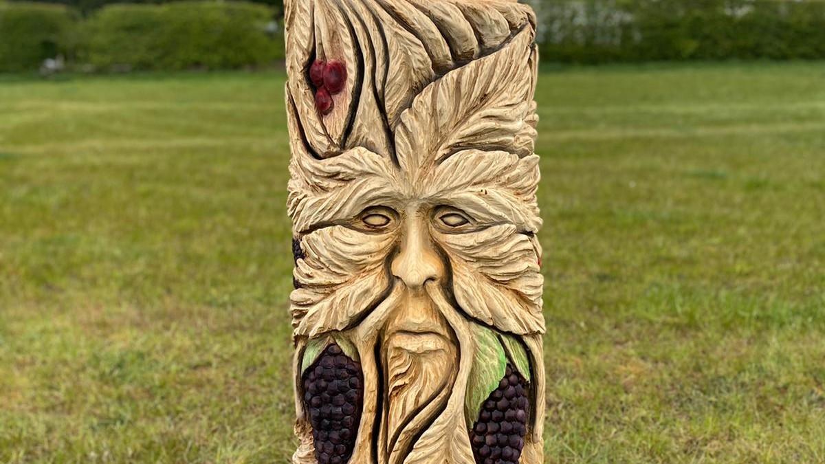 fruit farm totem sculpture fairy trail